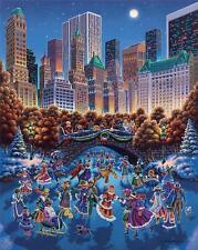 DOWDLE FOLK ART COLLECTORS JIGSAW PUZZLE CENTRAL PARK 1000 PCS NEW YORK