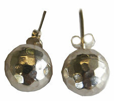VINTAGE HAMMERED EARRINGS PURE SILVER KAREN HILL TRIBE