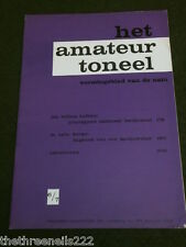 DUTCH THEATRE - HET AMATEUR TONEEL - 1963 # 6 - DIARY OF A COUNTRY JEWELER