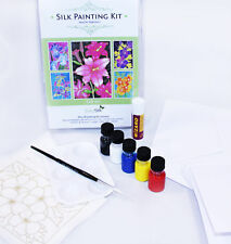 Silk Painting: Cardmaking kit - makes 5 lovely cards (Lily)