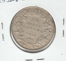 1914 Canada 50 Cents - Fifty Cents Coin - Sale