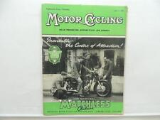 July 1956 MOTORCYCLING Magazine Matchless Clubman G3 LS L8436