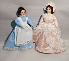 Bisque Dolls Tall Victorian-Style Pair of (2) Woman in Clothes Vintage 6�