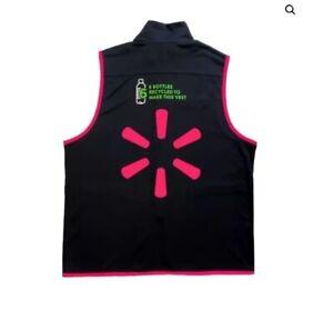 Walmart Associate Mock Neck Vest-Pink-Size Medium-With Free Mask