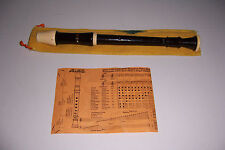 AULOS RECORDER NO.205 WITH BAG AND INSTRUCTON PAPER MADE IN JAPAN
