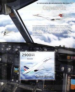 Air France & British Airways CONCORDE Aircraft Stamp Sheet (2013 Guinea-Bissau)