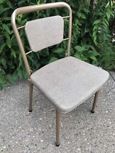 VTG COSCO Fashionfold Folding Metal Steel Vinyl Patio Kitchen Chair Retro USA!