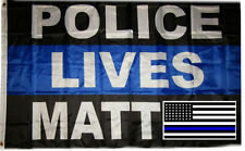 Wholesale Combo 3x5 Police Lives Matter Flag & USA Memorial Police Decal Sticker