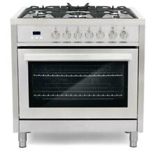 Cosmo Commercial-Style 36 in. 3.8 cu. ft. Single Oven Dual Fuel Range