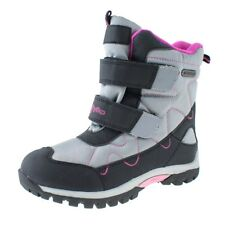 NEW GIRLS WATERPROOF SNOW BOOTS FLEECE WARM THERMAL WINTER BLACK SCHOOL SHOES