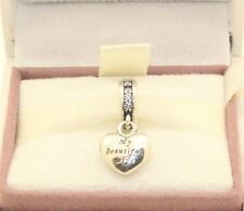 AUTHENTIC PANDORA My beautiful wife heart silver dangle, 791524CZ    #111