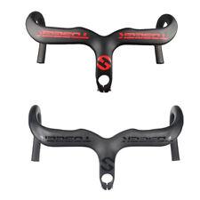 TOSEEK Carbon Road Bike Integrated Handlebar Stem Drop Bar Racing 400/420/440mm