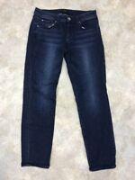 Ann Taylor Women's Blue Cotton Blend Medium Wash Modern Straight Jeans Sz 4