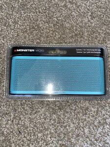 Monster ClarityHD Micro Bluetooth Speaker Interchangeable Grills Blue 129239-0