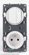 Variateur télérupteur 600W+prise blanc Céliane 67082+68031+67111+68111+80252