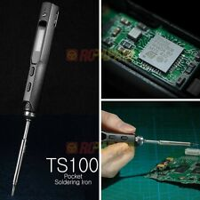 MINI TS100 40W Digital OLED Soldering Iron Station B2 tip with XT60 POWER CORD