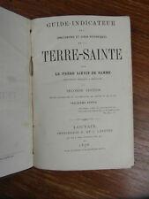 LIEVIN DE HAMME Guide Indicateur DE LA TERRE SAINTE 3e Partie LOUVAIN 1876