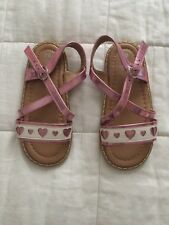 Girl's Mothercare Shiny Pink Sandals Shoes Size infant 10