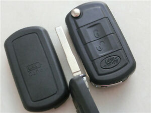 Land Rover 3 button REMOTE FLIP KEY SHELL CASE FOR Range Discovery Sport LR3