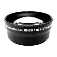 2x Tele Converter Lens for Canon XS XSI T1i T2i T3 T3i T4i 500D 600D 650D 1100D