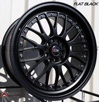 18X8.5/10 XXR 521 Rims 5x114.3/120 +25 Black Wheels (Set of 4)