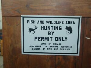 Fish And Wild Life Hunting And Fishing Sign metal man cave Advertising