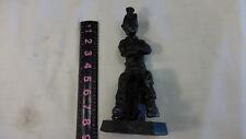 """J.Kourey 1975 """"Coal Miner"""" Hand Carved Coal Sculpture"""