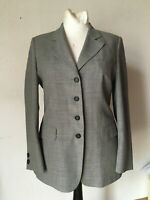 Blazer Jacke von ST.EMILE grau Schurwolle Polyamid Krepp klassisch 40 42
