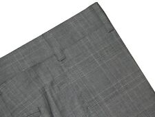 $325 NWT ZANELLA NORDSTROM DEVON GRAY TONE PLAID SUPER 120'S WOOL DRESS PANTS 36