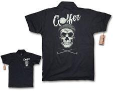 Polo Shirt - Golfer Skull - Golf Club Golfing Crossgolf Golf Bag Gift