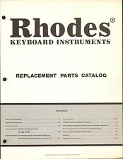 1980s RHODES KEYBOARD MUSICAL INSTRUMENT REPLACEMENT PARTS CATALOG #1