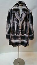 Genuine Women's Chinchilla Fur Jacket, SIZE 10-12, made in Italy