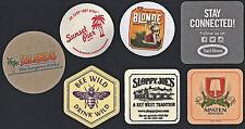 Beer Coaster Lot #4: 7 Different (5 Unused & 2 Used)