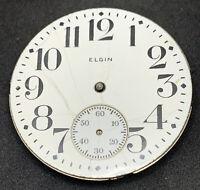 Elgin Grade 290 Pocket Watch Movement 16s Hunter 7j Model 6 Parts Repair F5502