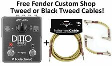 New TC Electronic Ditto X2 Looper Guitar Loop Effects Pedal! Fender Cables!