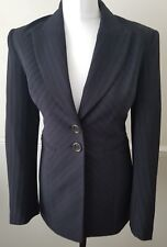 Karen Millen Ladies Black Pin Stripe Fitted Blazer Jacket UK 10 £199 Bargain!