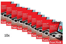 10x SanDisk 8GB 8G Cruzer Fit USB Flash Drive Disk 2.0 Flash CZ33 Lot of 10pcs