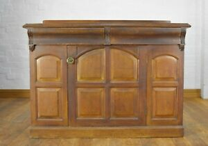 Antique carved Church Gothic chiffonier cabinet - sideboard - side cupboard