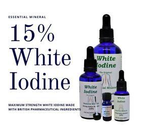 15% MAX STRENGTH WHITE IODINE SOLUTION THE BEST ORIGINAL FORMULA *10ml - 100ml
