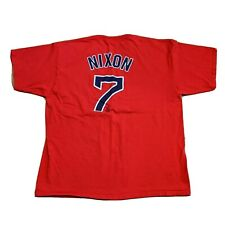 Majestic Trot Nixon Boston Red Sox Red #7 T Shirt MLB Baseball Mens Size 2XL