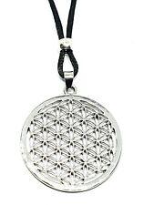 Flower of Life Pendant Sacred Geometry Reiki Yoga Peace Cord Necklace Jewellery