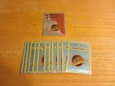 Vancouver Canucks Lot of 13 Foil Logo Hockey Stickers NHL