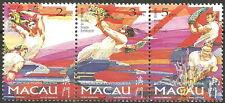 Macau - Drachen-Festival Satz Dreierstreifen postfrisch 1997 Mi. 913-915