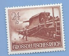 Nazi Germany Third Reich 1944 Nazi Rail Gun Soldiers 24+10 Stamp WW2 Era