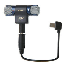 Stereo Mic External Microphone With 3.5mm Mini Micro USB Adapter Cable Line AB