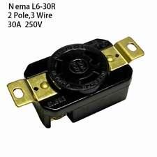 NEMA L6-20R Twist Lock Wall Mount Electrical Receptacle 3 Wire 20A 250V