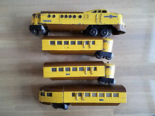 LIONEL 636W U.P. CITY of DENVER WITH TWO 637 & ONE 638 PASSENGER CARS + BOXES
