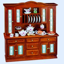 Reutter Porcelain Dollhouse Miniature Rosenban Filled Kitchen / Dining Cabinet