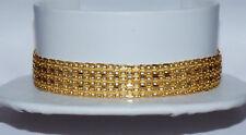 Gorgeous Italian 18K Solid Gold Designer Chain Mesh Wide Reversible Bracelet