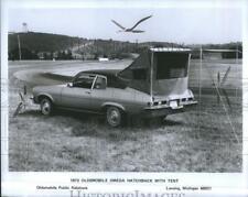 1972 Press Photo Oldsmobile Omega Hatchback Tent Car